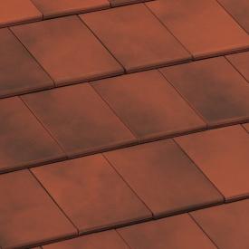 Черепица Braas Фонте Ангоба 350х244 мм состаренный красный