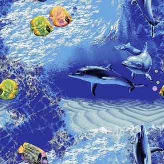 Ковер Витебские ковры Океан детский 6 мм синий