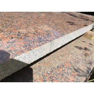 Плитка фасадная Новоданиловский гранит 25-30 мм красно-коричневая
