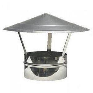 Колпак для дымохода 125 мм оцинкованный