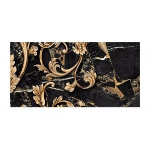 Декор для плитки Golden Tile Saint Laurent №4 300х600 мм черный