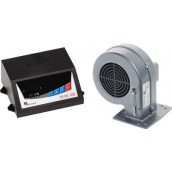 Комплект автоматики Kg Elektronik SP-05 LED з вентилятором DP-02 для твердопаливного котла 80 Вт