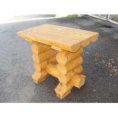 Столик из сруба свежеспиленной сосны под заказ