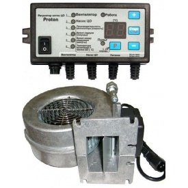 Комплект автоматики Proton з вентилятором WPA-120 для твердопаливного котла 83 Вт