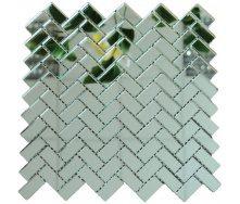 Мозаика зеркальная на сетке VIVACER ZE-6, 18x38 мм