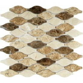 Мозаика мраморная VIVACER RL008, 283x300 мм