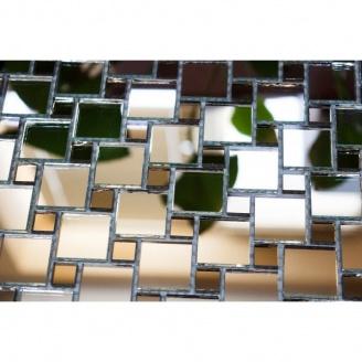 Мозаика зеркальная на сетке VIVACER ZP-04, 25x25 / 10x10 мм