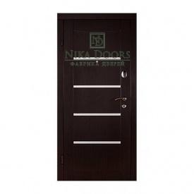 Бронированные двери Горизонталь 880х2040 мм венге