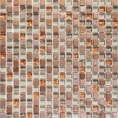 Мозаика мрамор стекло VIVACER 1,5х1,5 DAF18, 30х30 cм