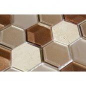 Мозаика мрамор стекло VIVACER SB05, 4,8х5,5 cм