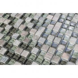 Мозаика мрамор стекло VIVACER 1,5х1,5 DAF19, 30х30 cм