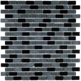 Мозаїка мармур скло VIVACER 1,5х3 DAF102, 30,5х30,5 см