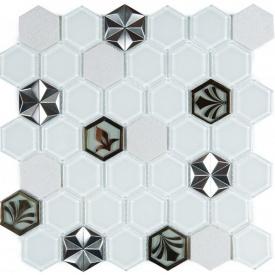 Мозаїка мармур скло VIVACER SB10, 4,8х5,5 см
