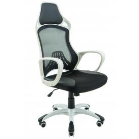 Крісло Глорія 1250 мм хром білий пластик
