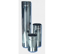Труба утепленная дымоходная АТМОФОР нержавеющая сталь AISI 321 1 м 1 мм