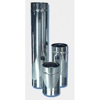 Труба утепленная дымоходная АТМОФОР нержавеющая сталь AISI 321 0,5 м 0,8 мм