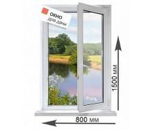 Пластиковое окно Rehau 60 2 камерное с фурнитурой Winkhaus