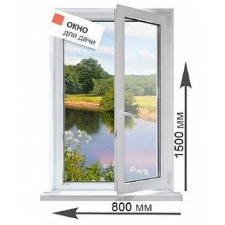 Пластиковое окно Rehau 2 камерное с фурнитурой Winkhaus