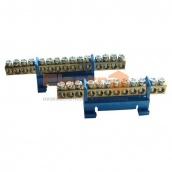 Шина нульова ElectrO СТАЙНІ 6х9/7 40 50 мм з ізолятором на DIN-рейку