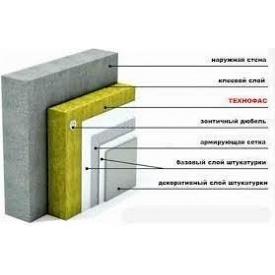 Базальтова теплоізоляція Технофас Ефект для фасаду 100 мм
