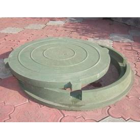 Люк полимерпесчаный легкий Л 2 т 640 мм зелёный