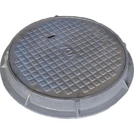 Люк чугунный канализационный легкий тип Л 75 кг