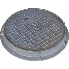Люк каналізаційний легкий типу Л 75 кг 620 мм