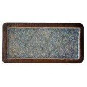 Шамотна плитка зі склом 195х95 мм блакитна