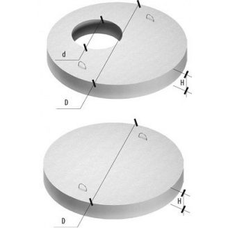 Плита дна колодязя ПН 15 2030х2030х120 мм