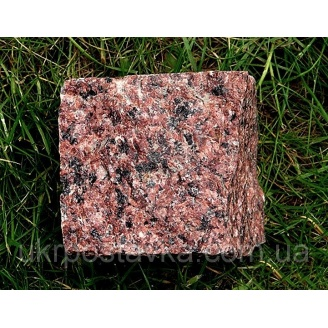 Брусчатка колотая Лезники 10х10х5 см ярко красная