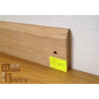Плинтус пристенный Файні Підлоги дуб 13х80 см
