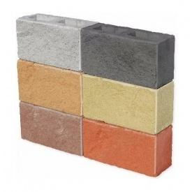 Колотий блок ЕКО 350х190х140 мм коричневий на сірому цементі