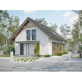 Строительство дома по проекту Бруно Комфорт 7,2х9,9 м
