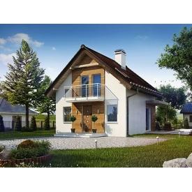Строительство дома по проекту Актеон Комфорт 6,7х6,7 м