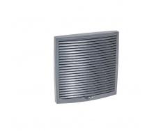 Наружная вентиляционная решетка VILPE 240х240 мм серая