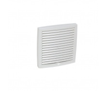 Наружная вентиляционная решетка VILPE 150х150 мм белая