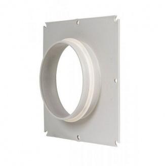 Фланец вентиляционной решетки VILPE 125 мм светло-серый