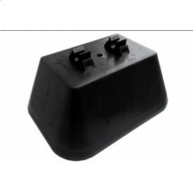 Держатель пластиковый для плоской крыши с бетоном черный 02030 RAM