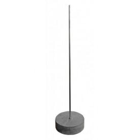Молниеприемник алюминиевый с бетонной основой 2 м