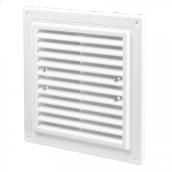 Вентиляційна прямокутна решітка Домовент ДВ 215х175 пластик 11х215х175 мм біла
