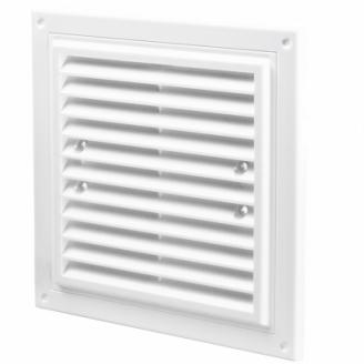Вентиляционная квадратная решетка Домовент ДВ 150х150Спластик 11х150х150 мм