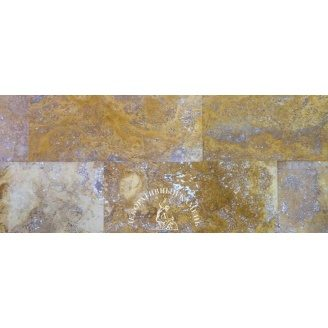 Травертин заполненный 30,5x61x1,2 см желтый