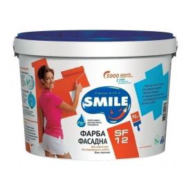 Краска фасадная SMILE SF-12 матовая акриловая 7 кг белый