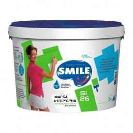 Краска интерьерная SMILE SI-26 матовая акриловая 1,4 кг белоснежный