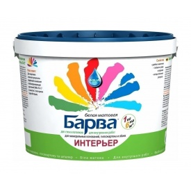 Краска интерьерная Барва SI-27 матовая 14 кг белый