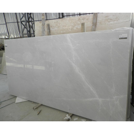 Мрамор Milas Pearl сляб перламутрово-серый 20 мм