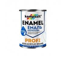 Эмаль акриловая Kompozit PROFI С шелковисто-матовая 0,8 л