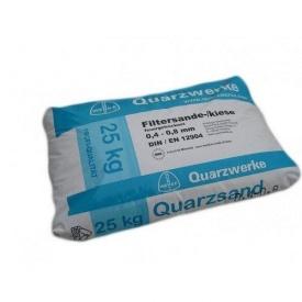 Кварцевый песок для фильтра бассейна Quarzwerke фракция 0,4-0,8 мм