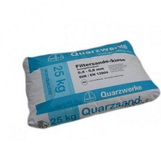 Кварцовий пісок для фільтра басейну Quarzwerke фракція 0,4-0,8 мм