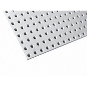 Перфорований гіпсокартонний лист Knauf-Acoustic ППГЗ-Б1-8/18 КР-4ПК 2448х1224х12,5 мм білий